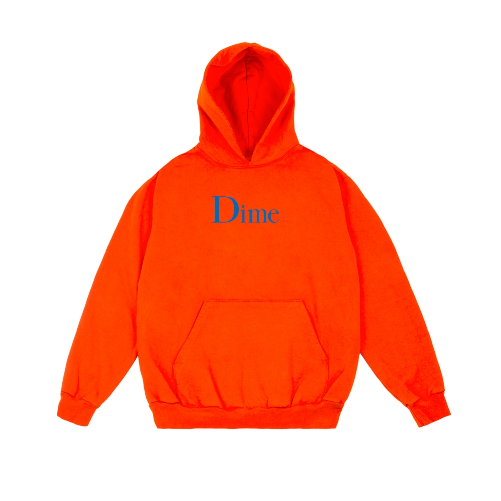 Dime Classic Logo Pullover Hooded Sweatshirt (Orange)
