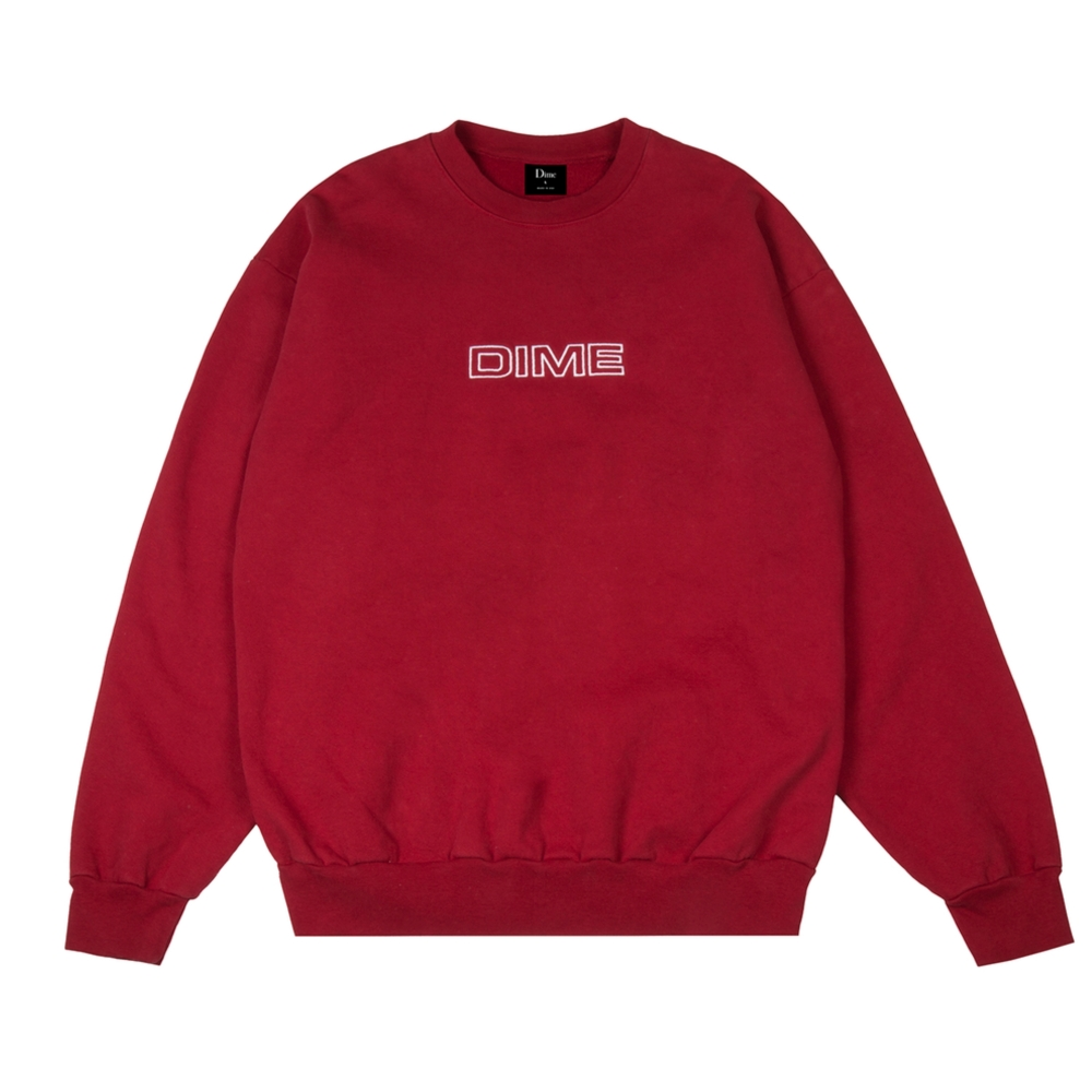 Dime Important Crew Neck Sweatshirt (Red)