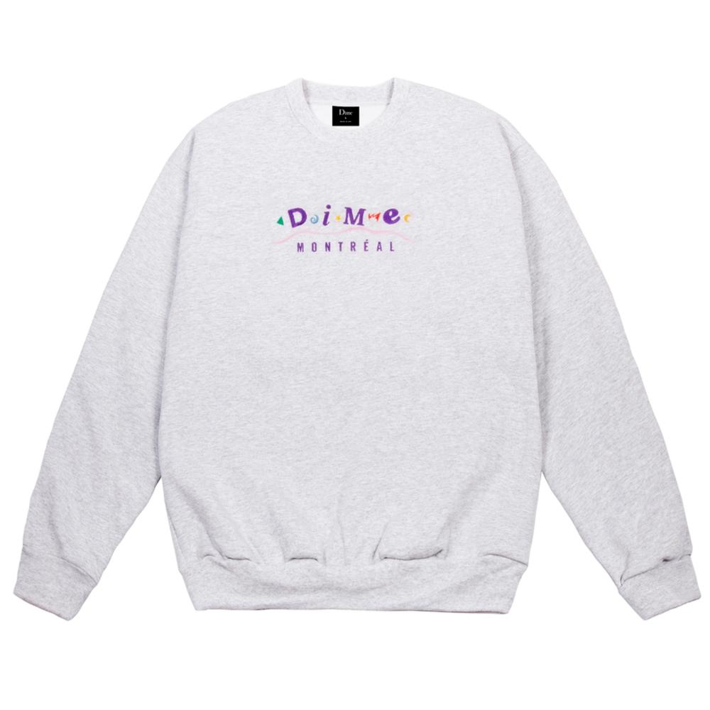 Dime Montreal Crew Neck Sweatshirt (Ash)