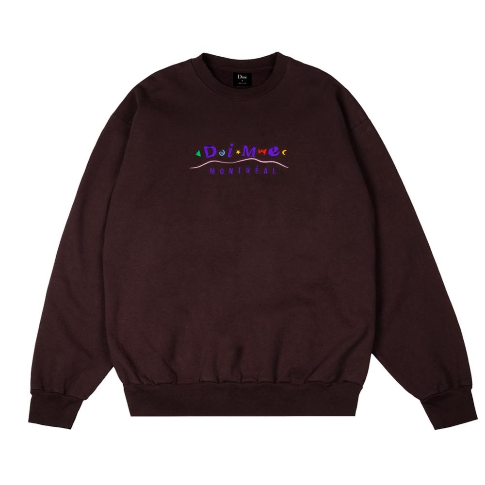 Dime Montreal Crew Neck Sweatshirt (Brown)