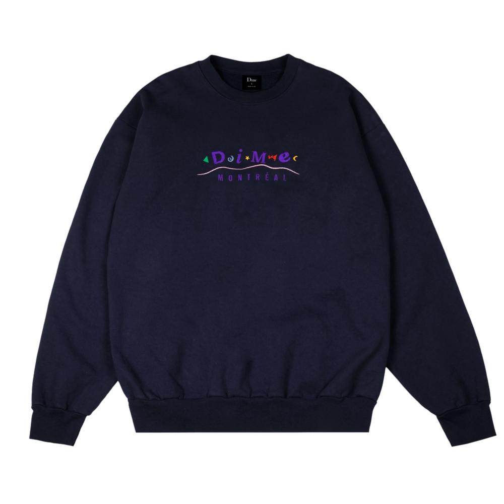 Dime Montreal Crew Neck Sweatshirt (Navy)