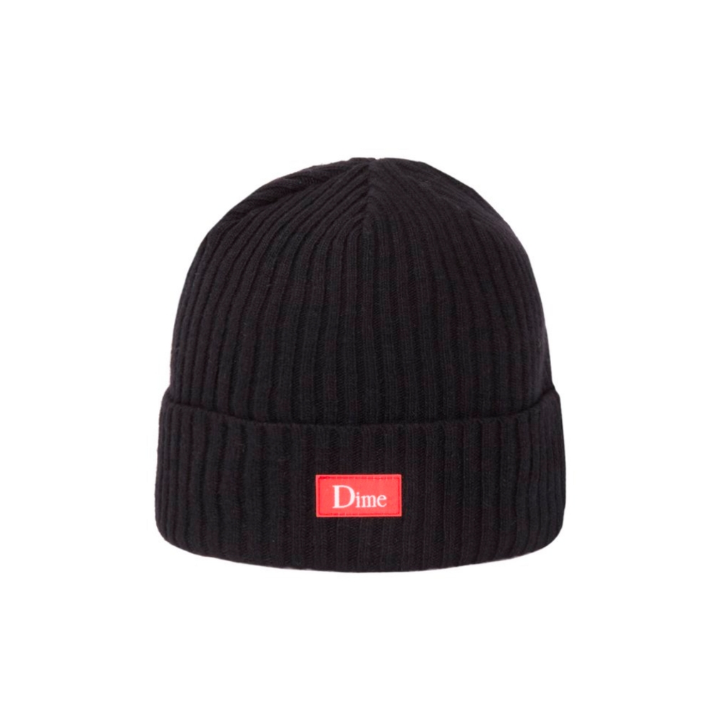 Dime Ribbed Cashmere Beanie (Black)