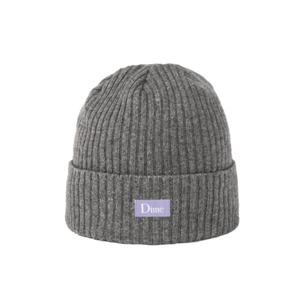 Dime Ribbed Cashmere Beanie (Grey)