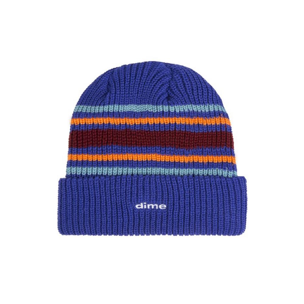Dime Striped Beanie (Blue)