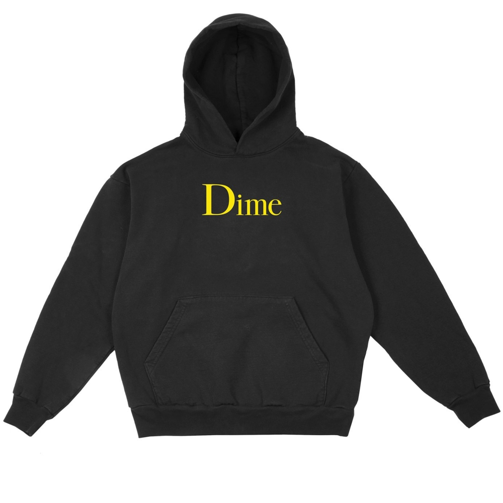 Dime Classic Logo Pullover Hooded Sweatshirt (Black)