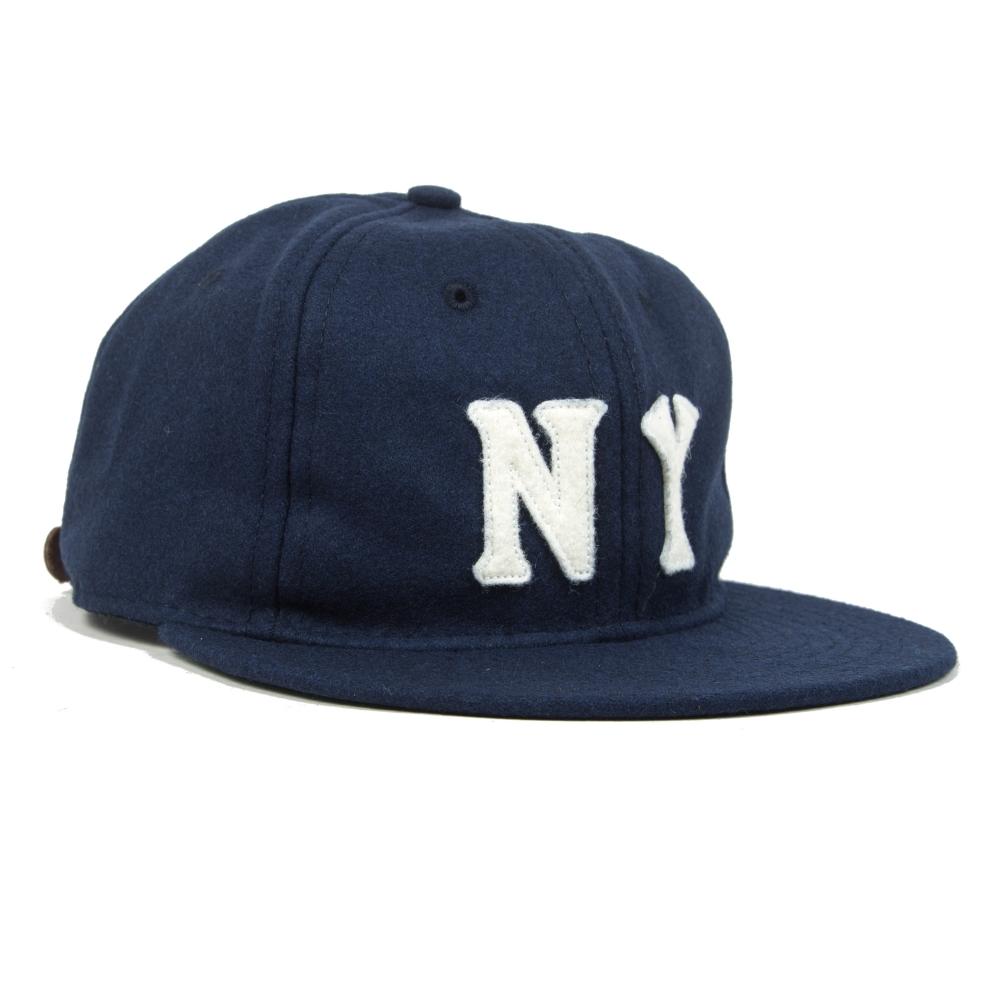 Ebbets Field Flannels New York Black Yankees 1936 Ballcap (Navy Wool)