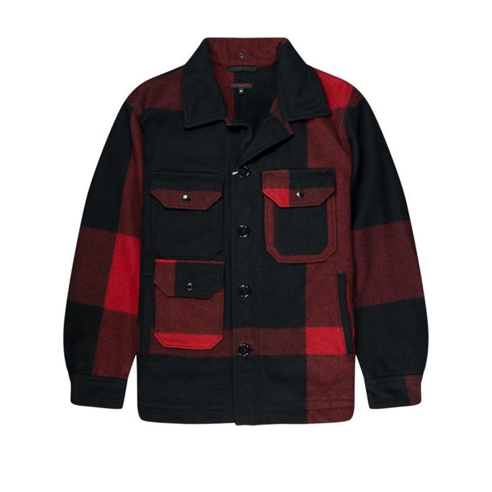 Engineered Garments Cruiser Jacket (Black Big Plaid Wool Melton)