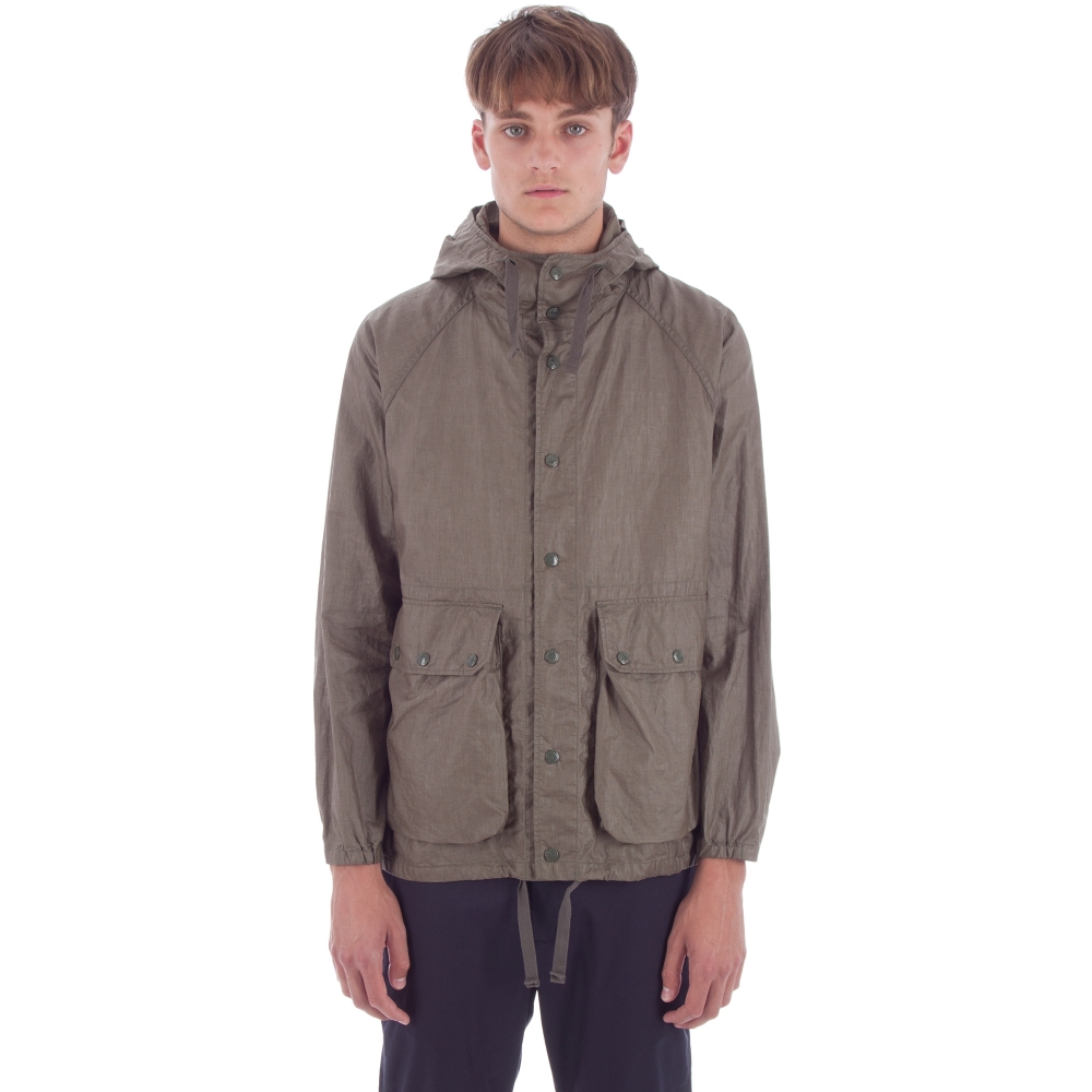 Engineered Garments Lt Parka (Olive Coated Linen)
