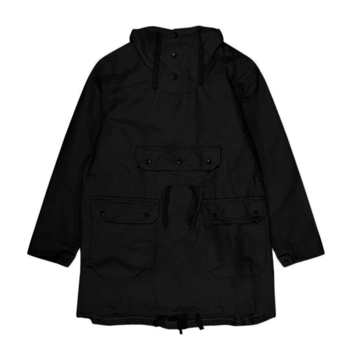 Engineered Garments Over Parka (Black Cotton Double Cloth)