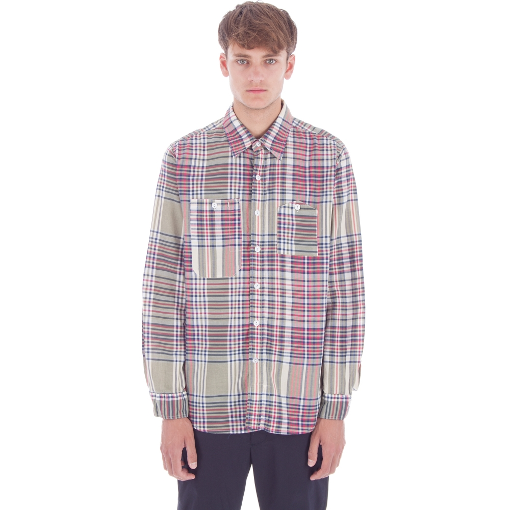 Engineered Garments Work Shirt (Olive/Red/Navy Big Plaid)
