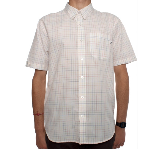 Enjoi Butts Up Plaid Woven Shirt (White)