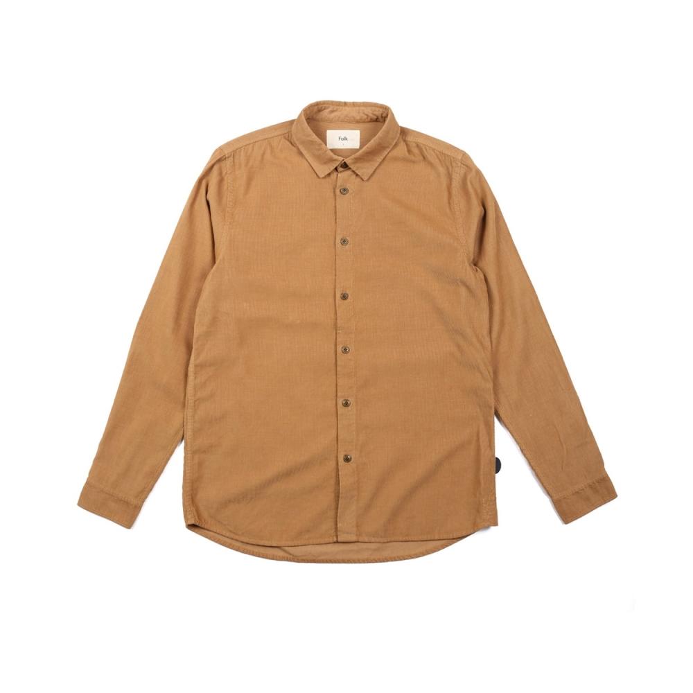 Folk Baby Cord Shirt (Caramel)