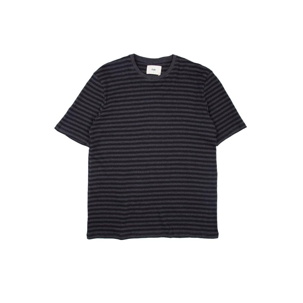 Folk Classic Stripe T-Shirt (Black Charcoal)