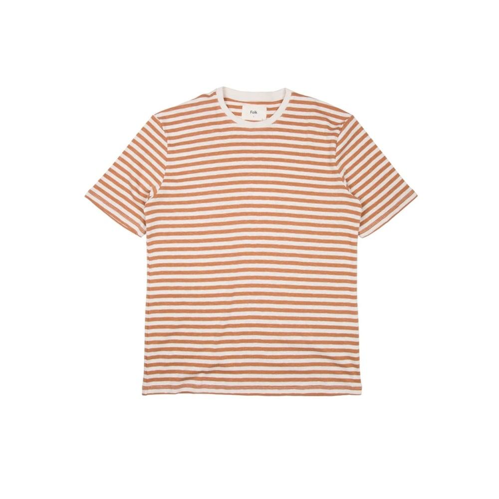 Folk Classic Stripe T-Shirt (Clay Ecru)