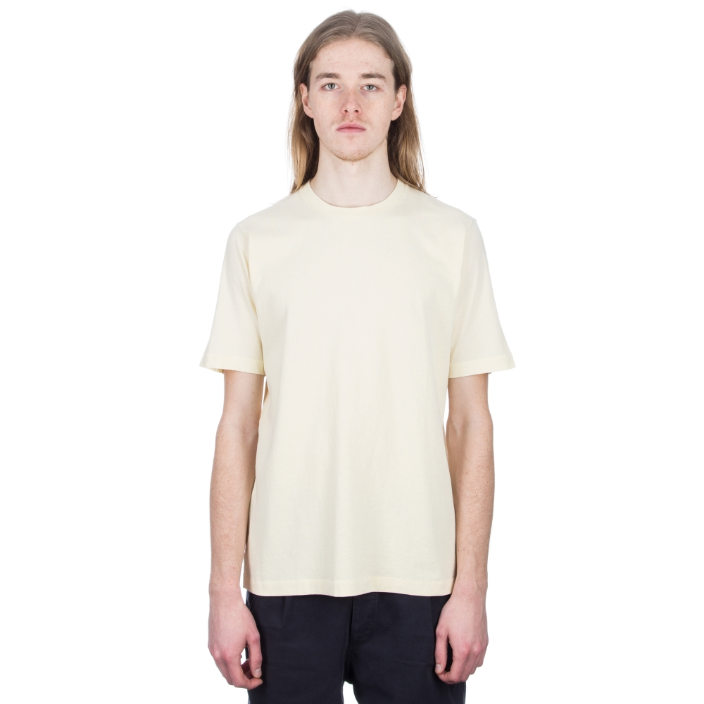 Folk Contrast Sleeve T-Shirt (Soft Yellow)