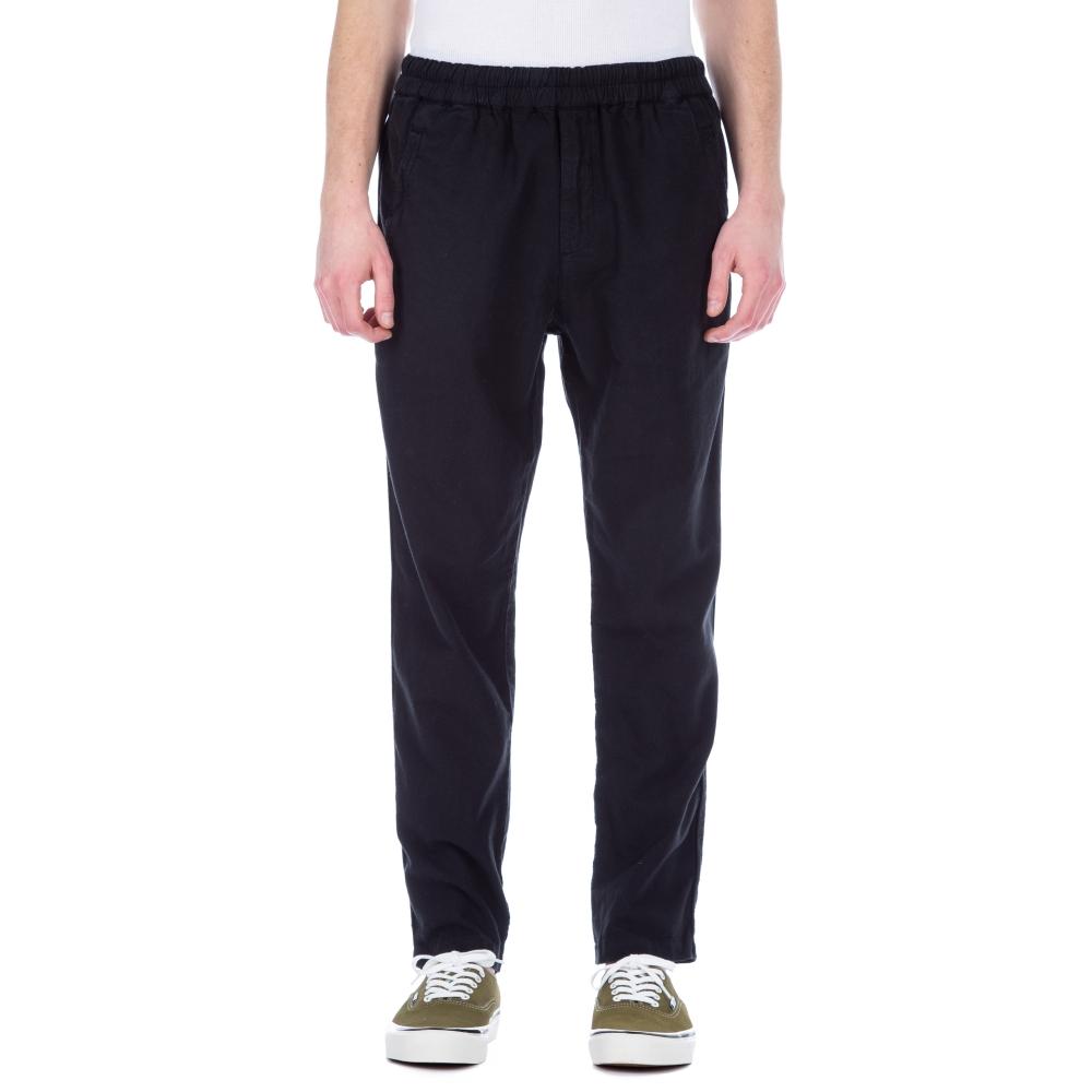 Folk Cotton Linen Pant (Soft Black)