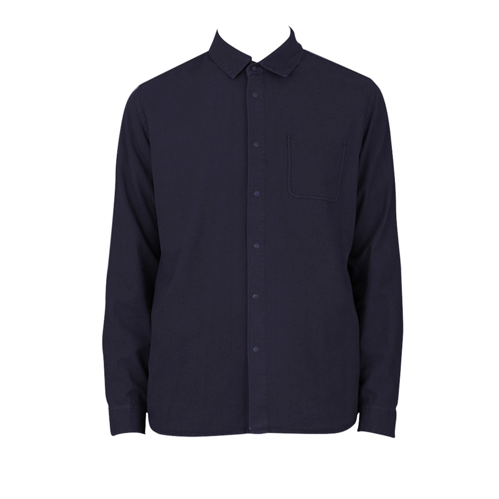 Folk Flannel Pop Stud Shirt (Navy)