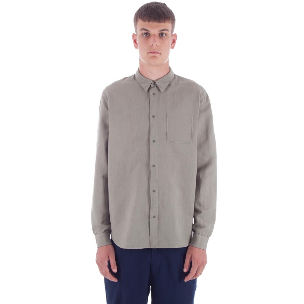 Folk Pop Stud Shirt (Soft Military Green)