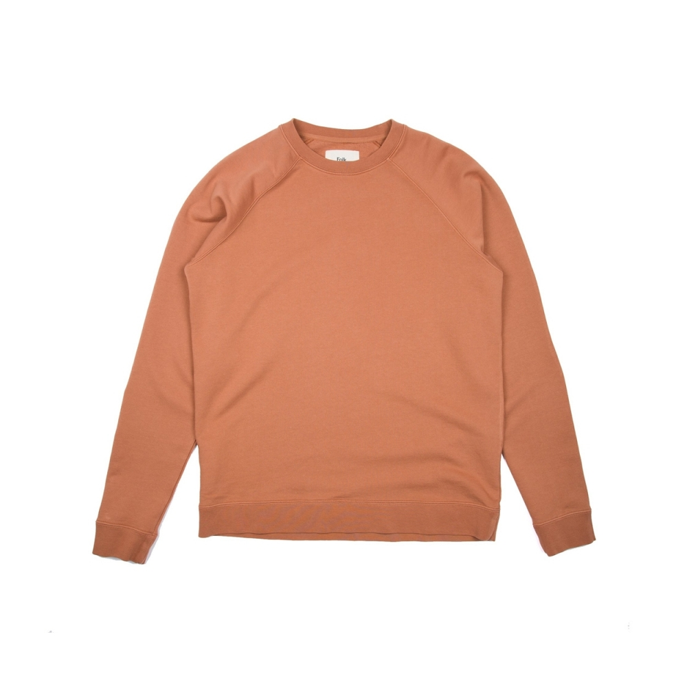 Folk Rivet Crew Neck Sweatshirt (Clay)