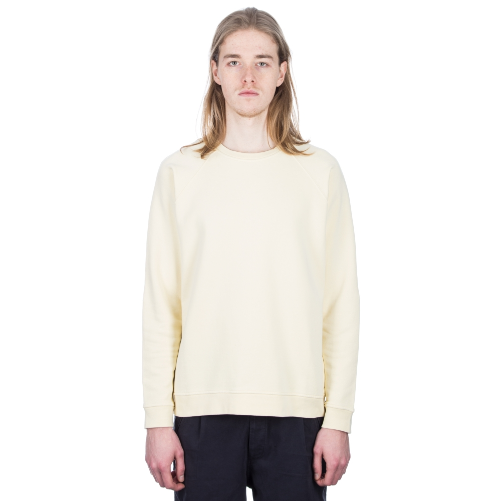 Folk Rivet Jersey Crew Neck Sweatshirt (Soft Yellow)