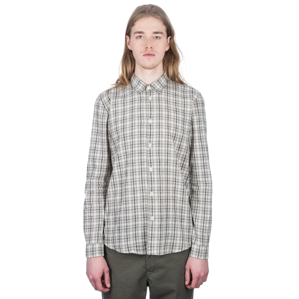 Folk Storm Shirt (Ecru Black Check)
