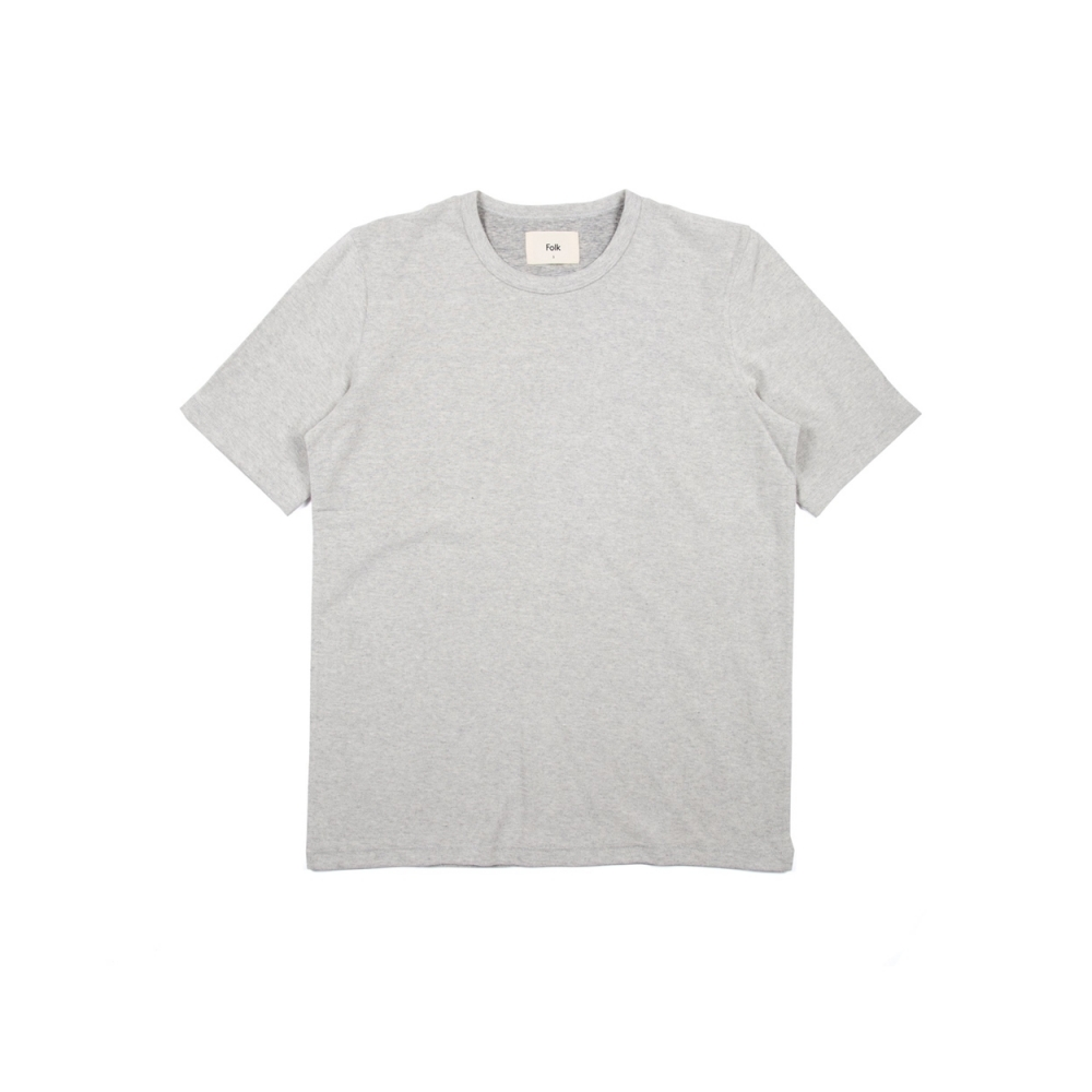 Folk Textured T-Shirt (Grey Melange Texture)