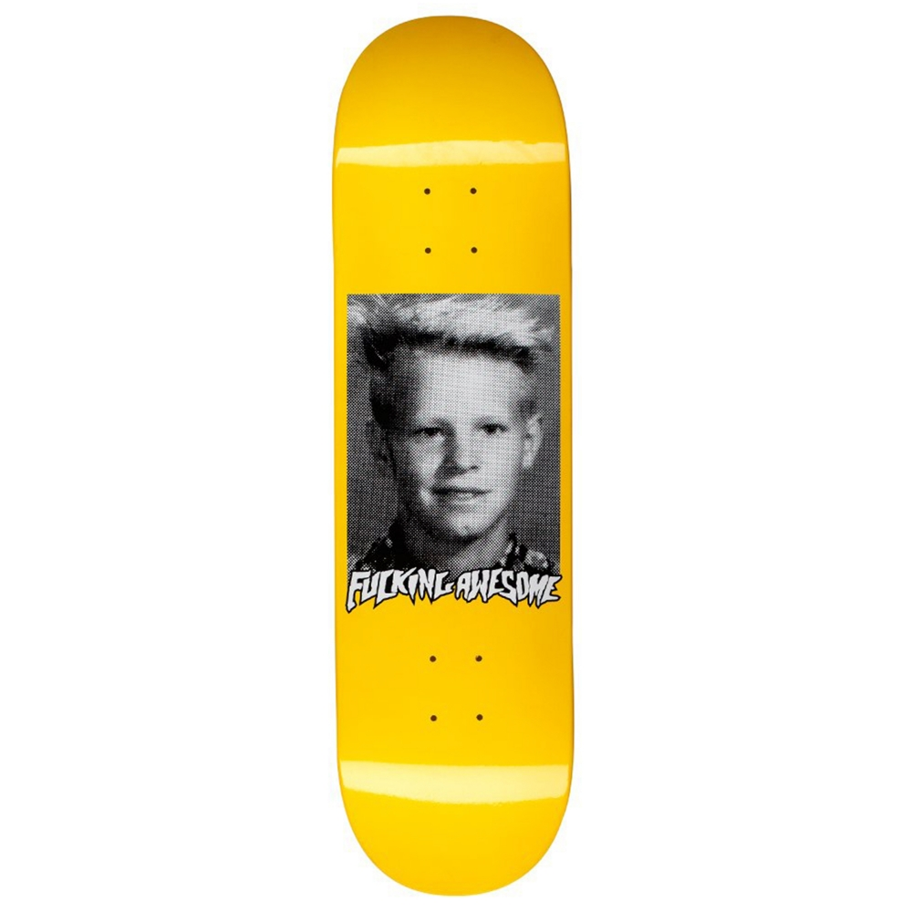 "Fucking Awesome AVE Class Photo Skateboard Deck 8.38"" (Yellow)"