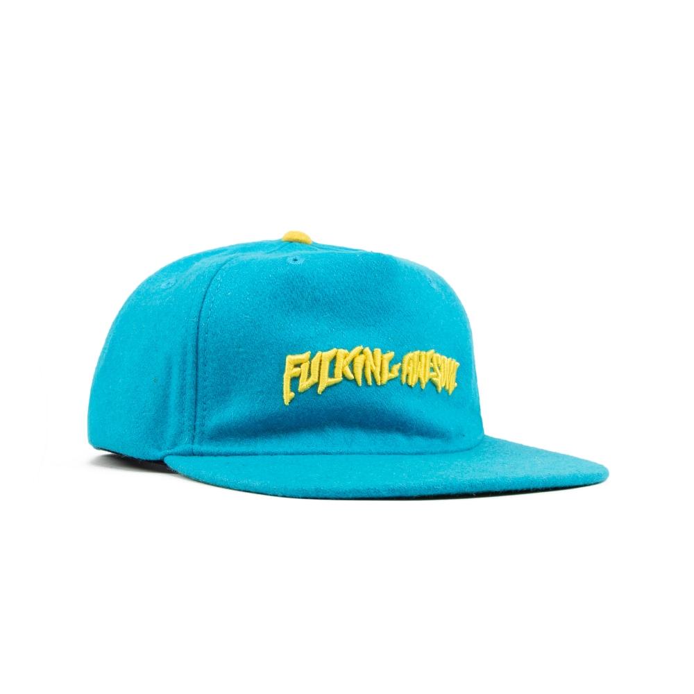 Fucking Awesome Classic Logo Wool Snapback Cap (Turquoise)