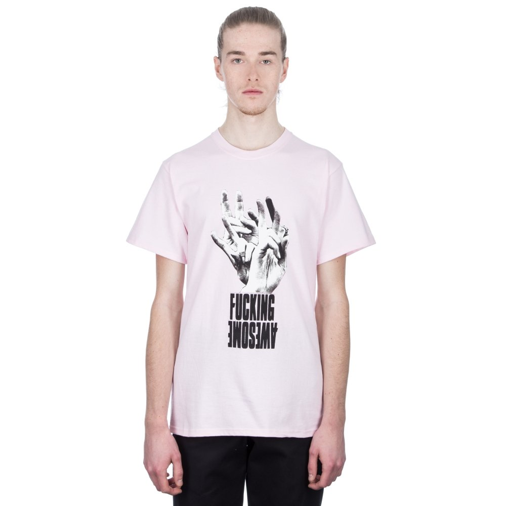 Fucking Awesome Fingers T-Shirt (Pink)
