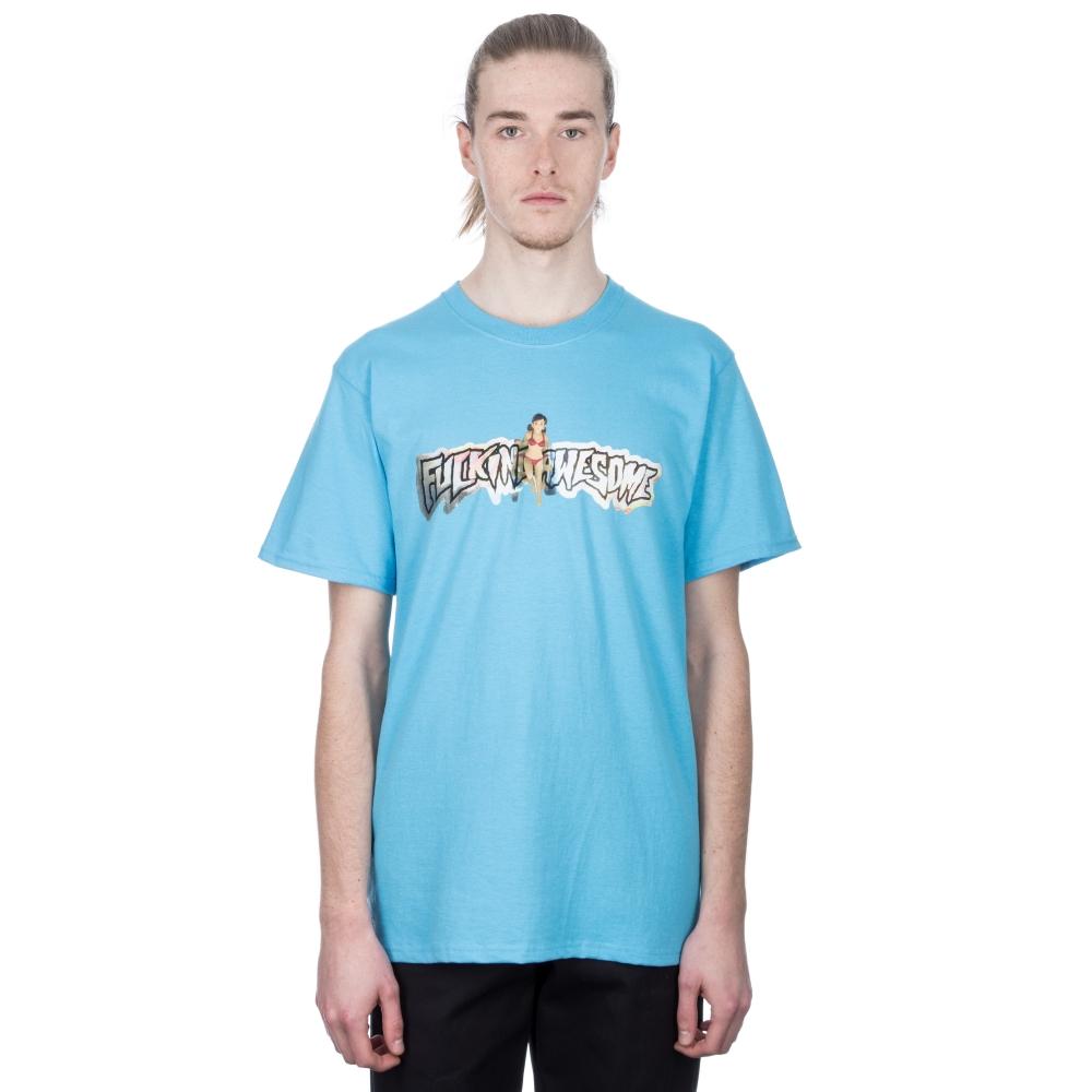 Fucking Awesome Plastic Woman T-Shirt (Blue)