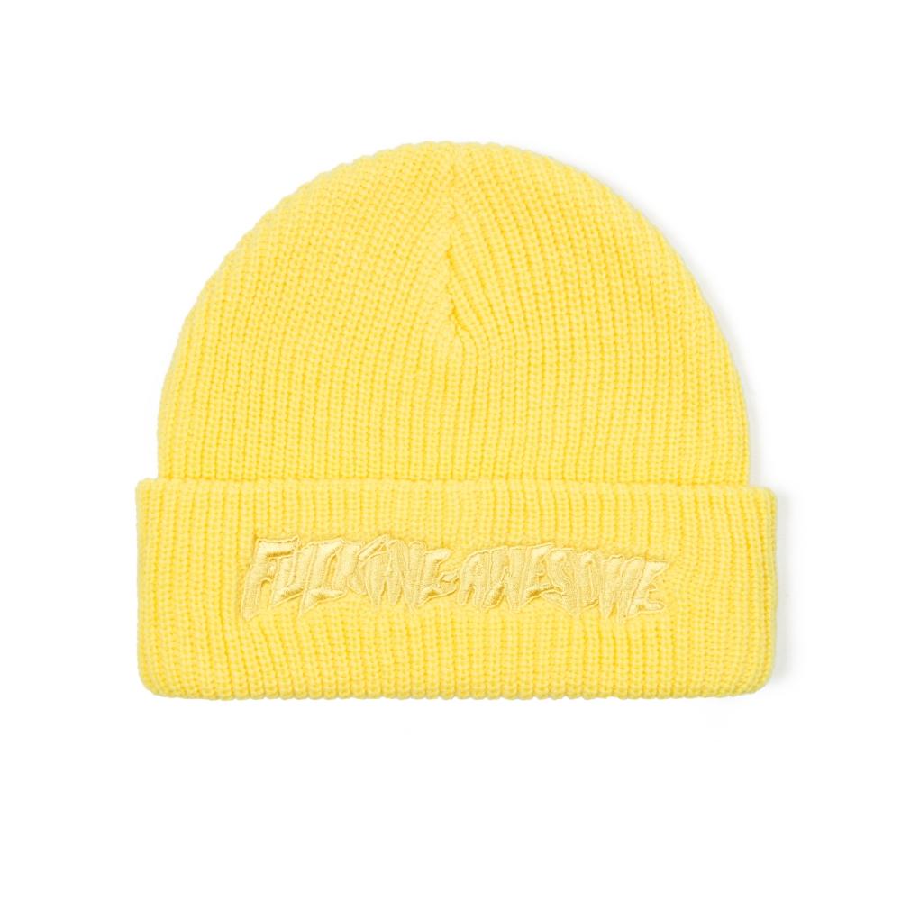 Fucking Awesome Tonal Beanie (Yellow)