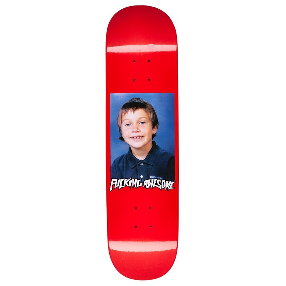 "Fucking Awesome Elijah Class Photo Skateboard Deck 8.25"" (Red)"