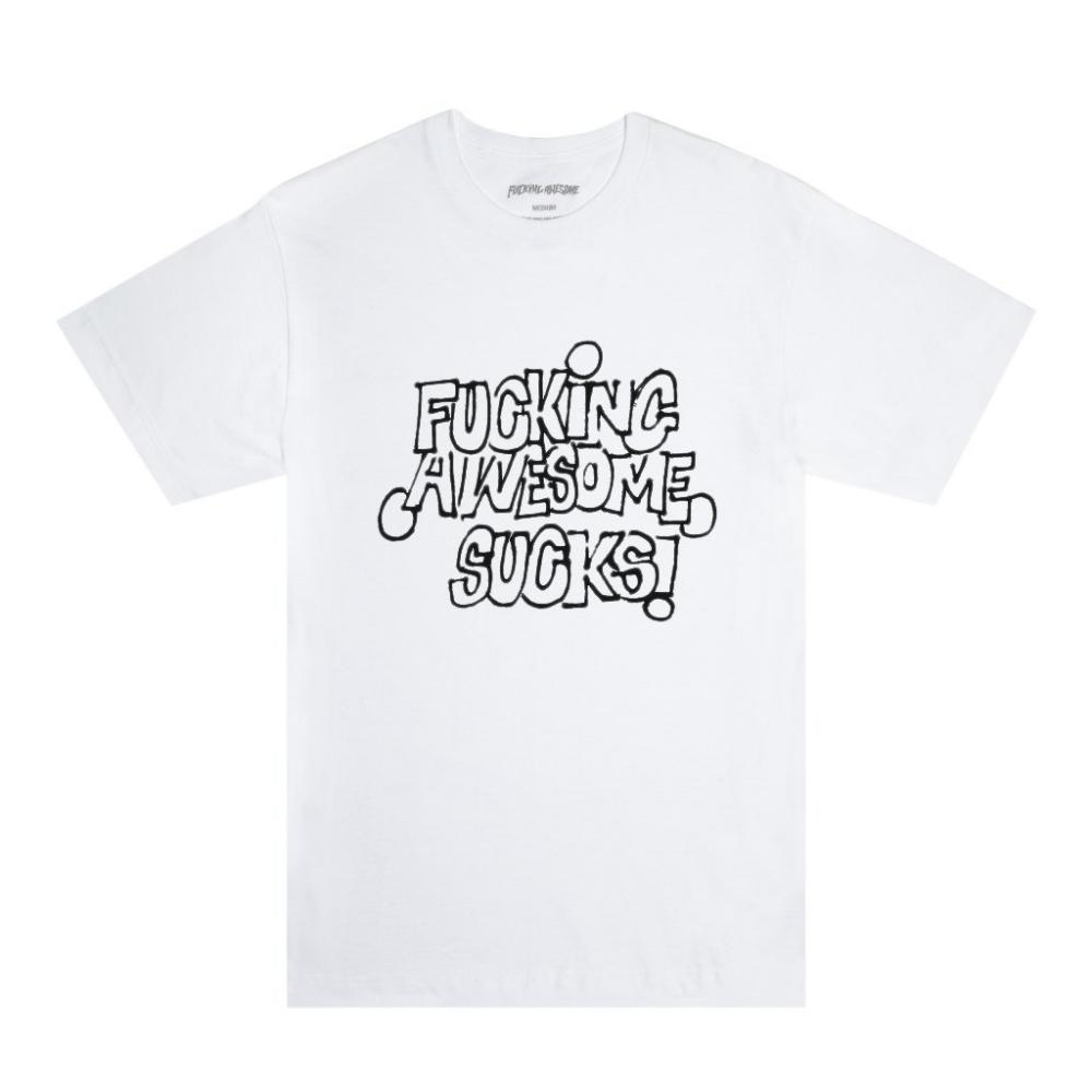 Fucking Awesome FA Sucks T-Shirt (White/Black)