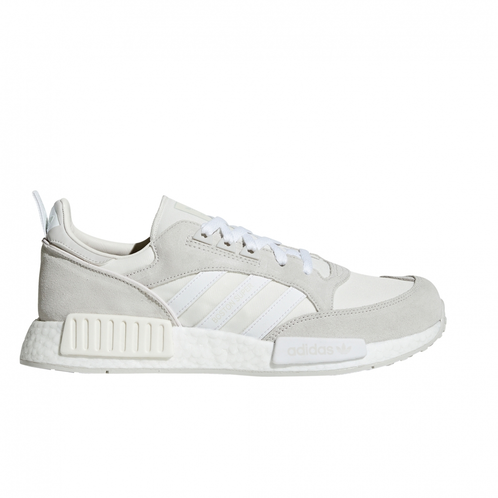 adidas Originals Boston Super x R1 'Never Made Triple White Pack' (Cloud White/Footwear White/Grey One)