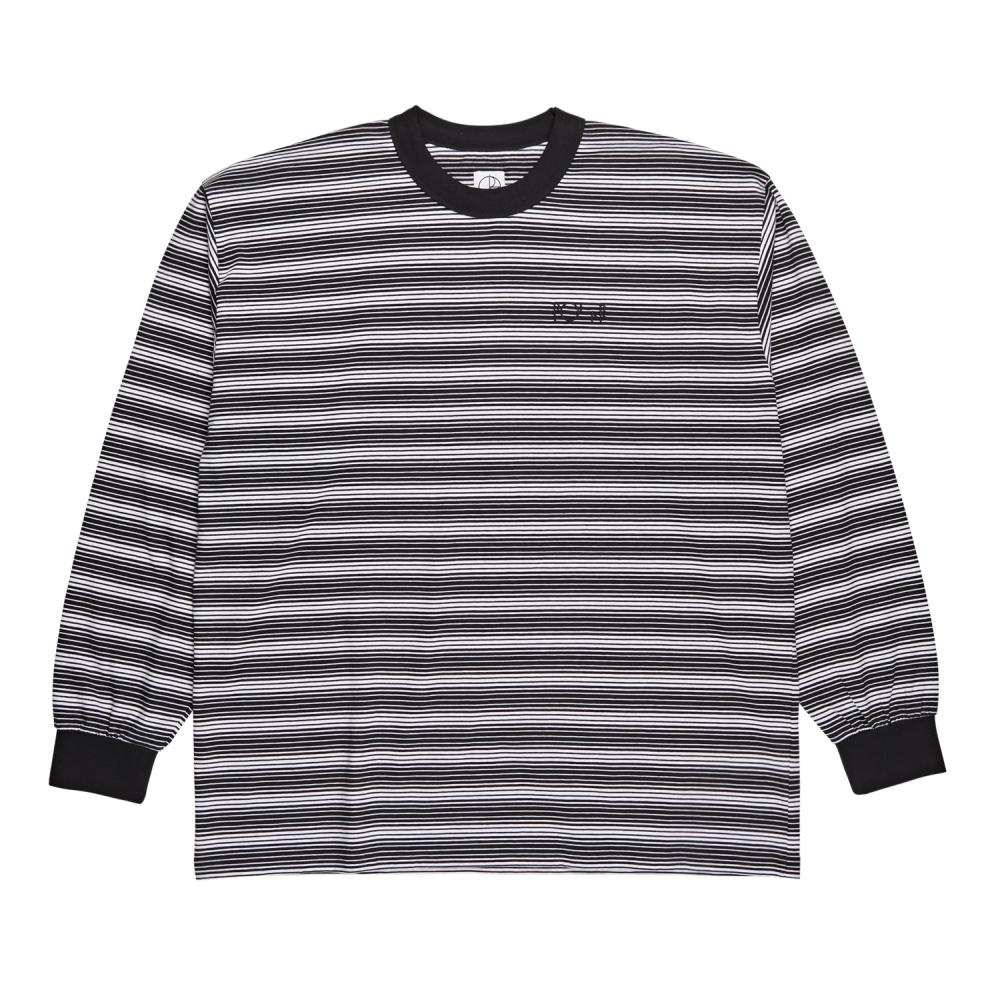 Polar Skate Co. Gradient Long Sleeve T-Shirt (Black/White)