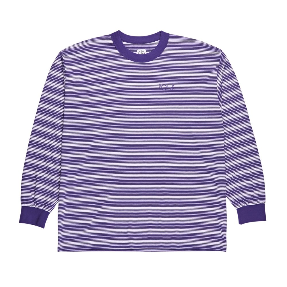 Polar Skate Co. Gradient Long Sleeve T-Shirt (Deep Purple/White)