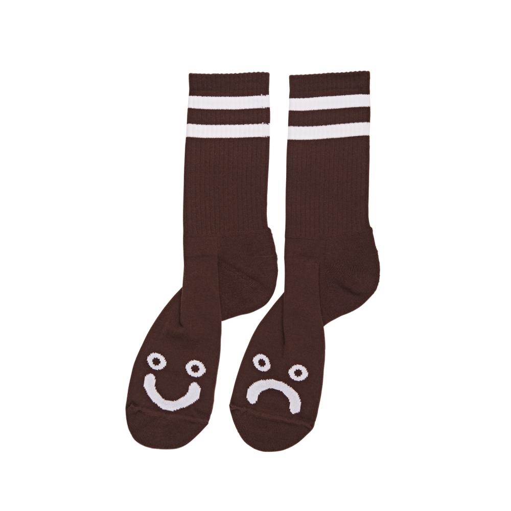 Polar Skate Co. Happy Sad Socks (Brown)