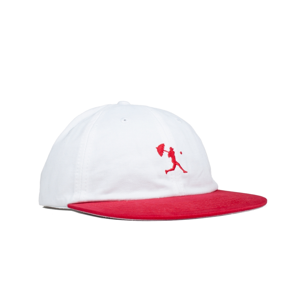 Hélas Baller 6 Panel Cap (White/Red)