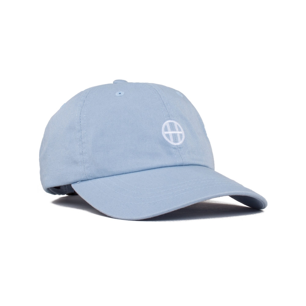 HUF Circle H Curve Visor 6 Panel Cap (Light Blue)
