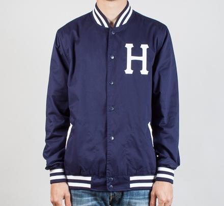 HUF Classic H Baseball Jacket (Navy) - Consortium