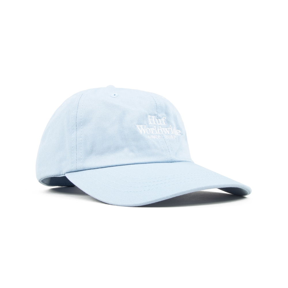 HUF Worldwide UV Curved Brim Cap (Light Blue)