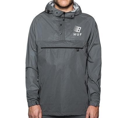 HUF X Bronze Packable Reflective Pullover Jacket (Black)