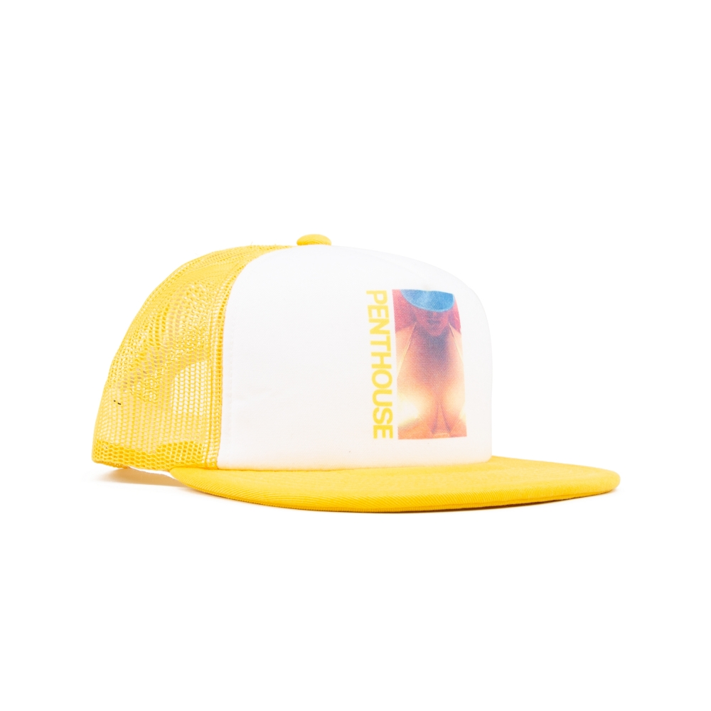 HUF x Penthouse Trucker Cap (Yellow)