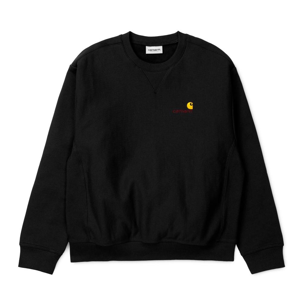 Carhartt American Script Crew Neck Sweatshirt (Black)