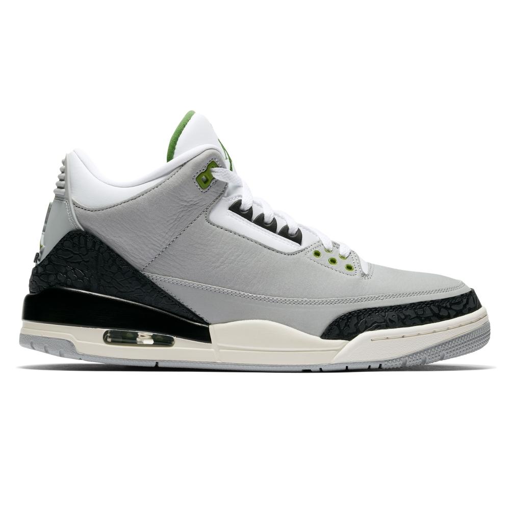 Jordan Brand Nike Air Jordan 3 Retro 'Chlorophyll Tinker' (LT Smoke Grey/Chlorophyll-Black-White)