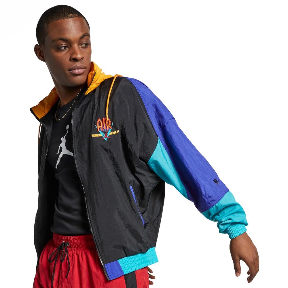 Jordan Brand Nike Jordan Legacy Flight Nostalgia AJ9 Loose Fit Jacket (Black/Canyon Gold/University Red)