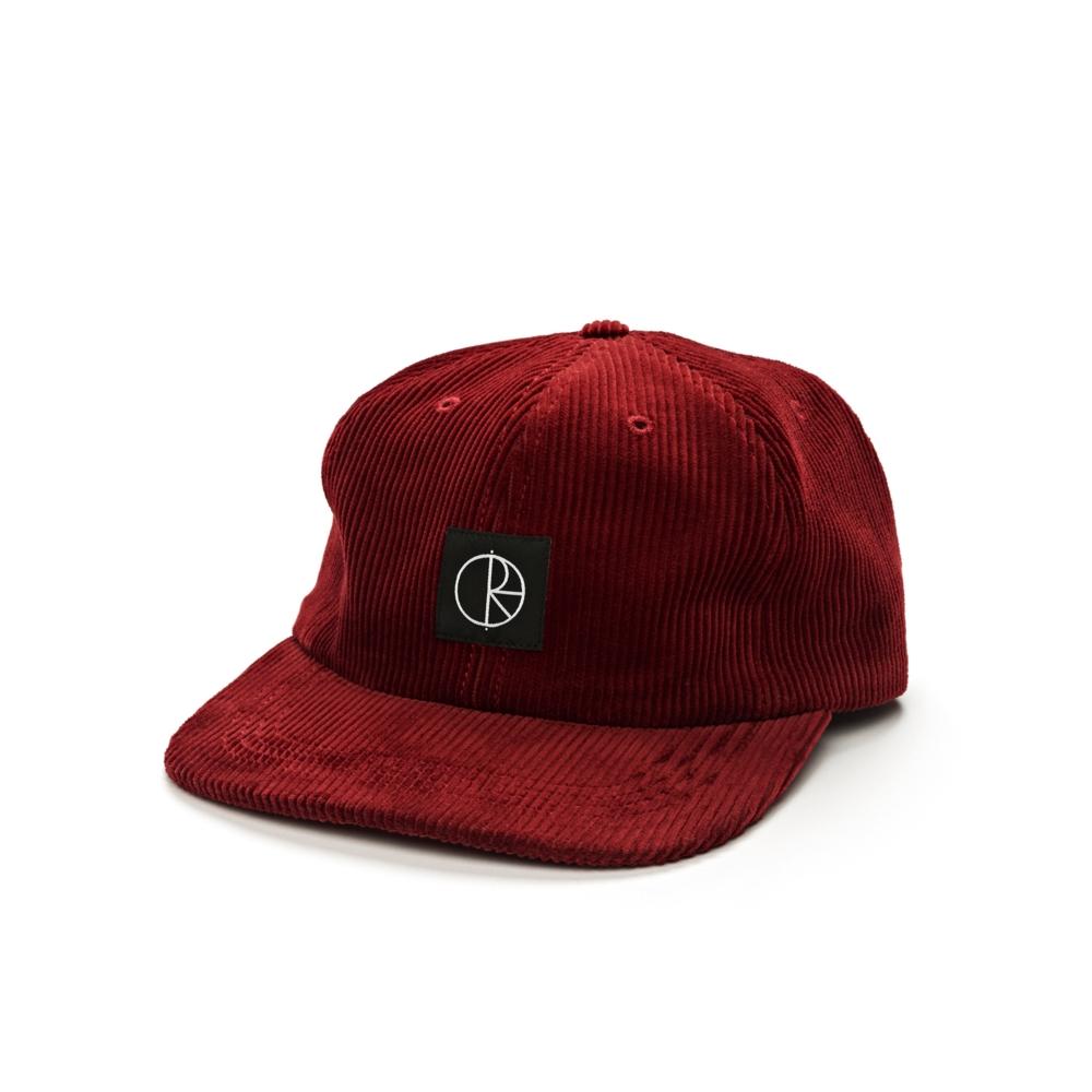 Polar Skate Co. Corduroy Cap (Red)