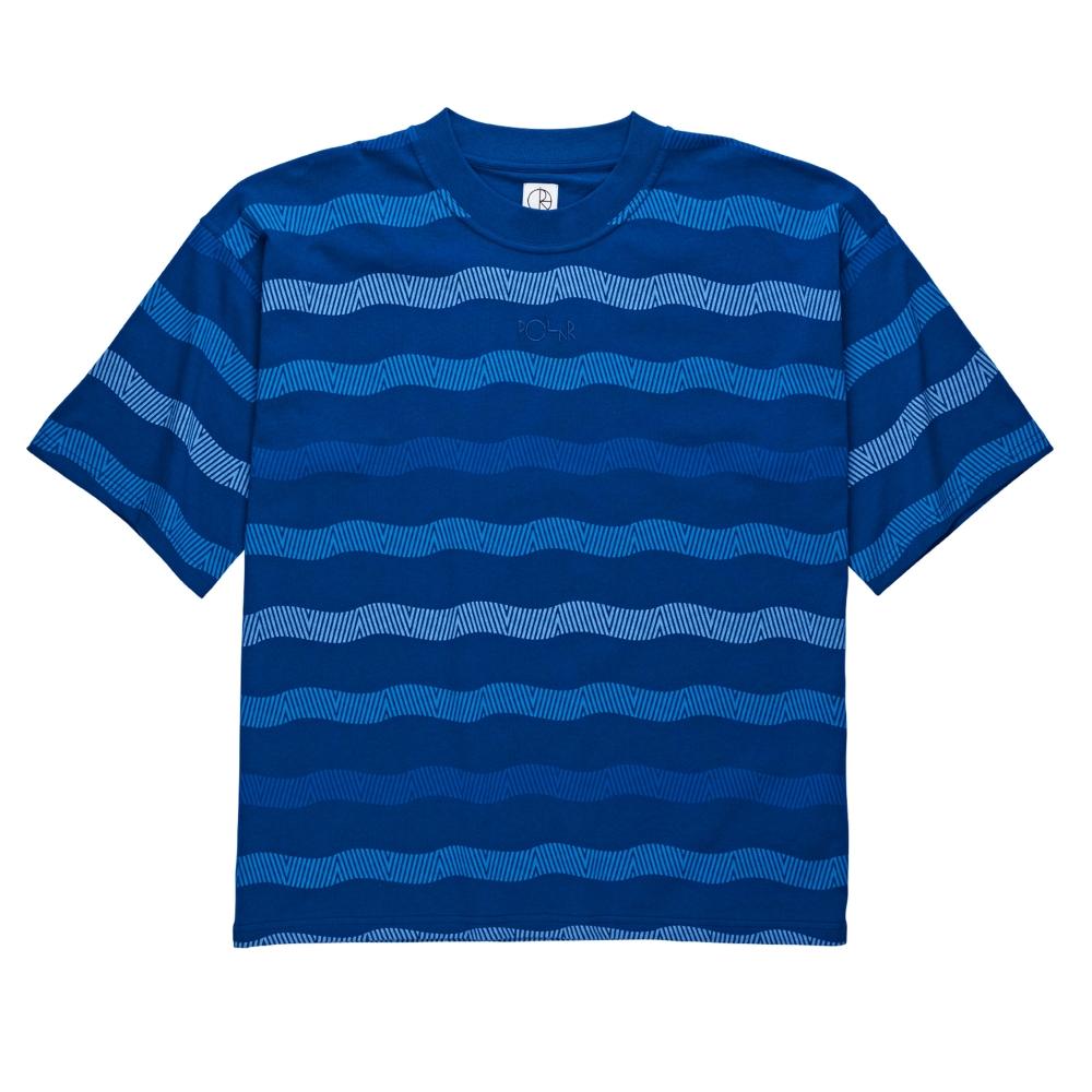 Polar Skate Co. Wavy Surf T-Shirt (Dark Blue)