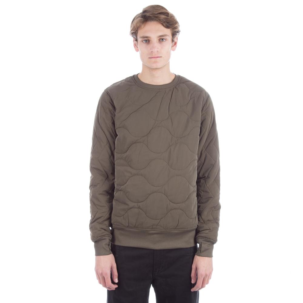 Maharishi Quilted Crew Neck Sweatshirt (Olive)