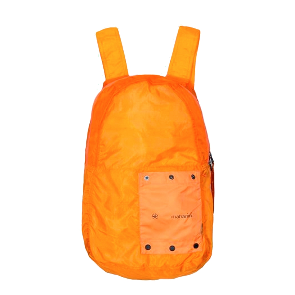 Maharishi Rollaway Lightweight Nylon Micro Ripstop Backpack (Orange)